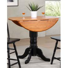 DLU-TPD4242CB-BCH  Round Drop Leaf Pub Table in Antique Black with Cherry Finish Top