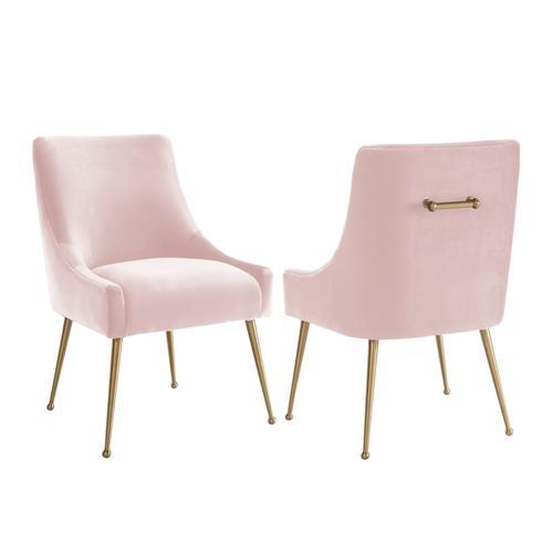 Tov Furniture - Beatrix Blush Velvet Side Chair
