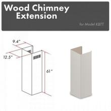 """See Details - ZLINE 61"""" Wooden Chimney Extension for Ceilings up to 12 ft. (KPTT-E)"""