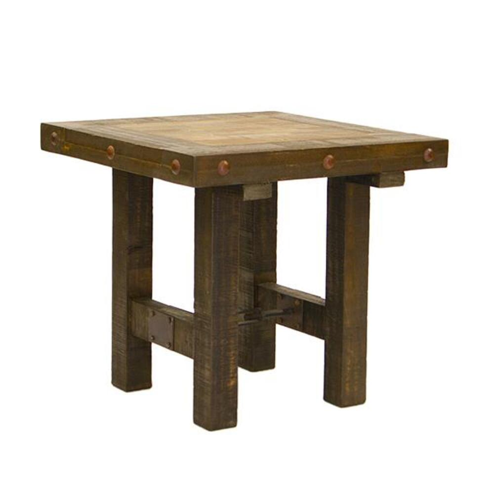 Las Piedras End Table W/Painted Wood