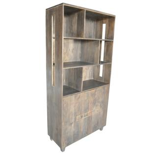 Belle Meade 2 Door Mango Wood Tall Cabinet and Bookshelf
