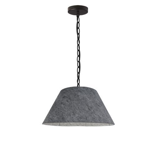 Product Image - 1lt Brynn Small Pendant, Gry Felt Shade, Black