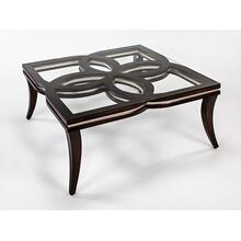 Coffee Table with Glass 42x42x18""