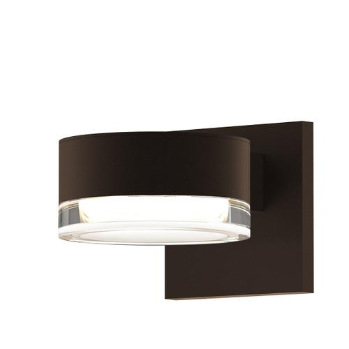 Sonneman - A Way of Light - REALS® Up/Down LED Sconce [Color/Finish=Textured Bronze, Lens Type=Plate Lens and Clear Cylinder Lends]
