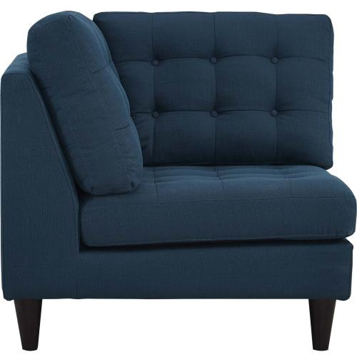 Modway - Empress Upholstered Fabric Corner Sofa in Azure