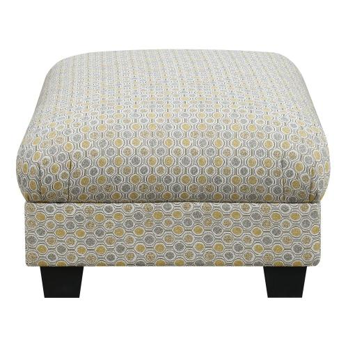 Carter Accent Cocktail Ottoman Gold