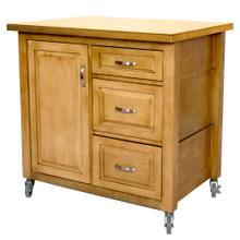 See Details - Kitchen Cart - Light-Oak