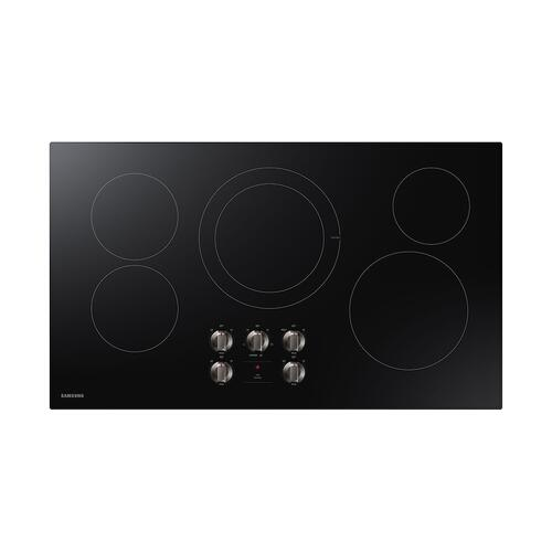 "36"" Electric Cooktop in Black"
