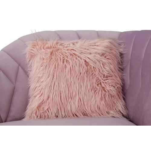 Eva Blush Velvet Sofa