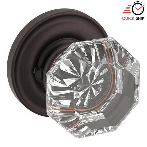 Baldwin - Venetian Bronze 5080 Filmore Knob with 5048 Rose