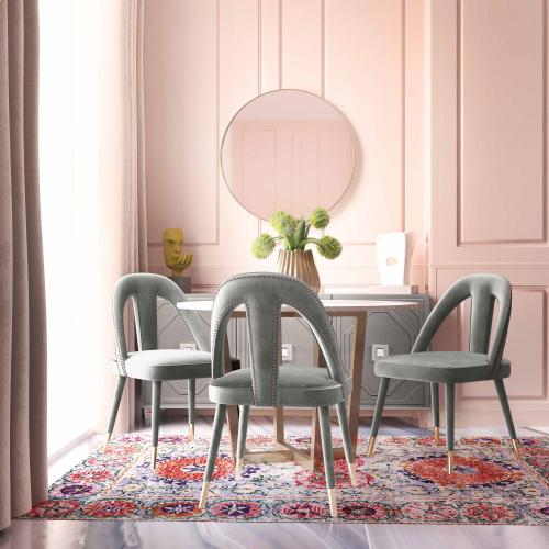 Product Image - Petra Light Grey Velvet Side Chair