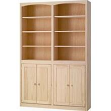 See Details - Pine 48 Inch Bookcase with Doors