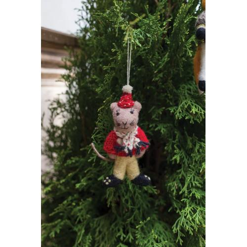 """6.5"""" Grey E+E Sweater Ornament (Louie Mouse Option)"""