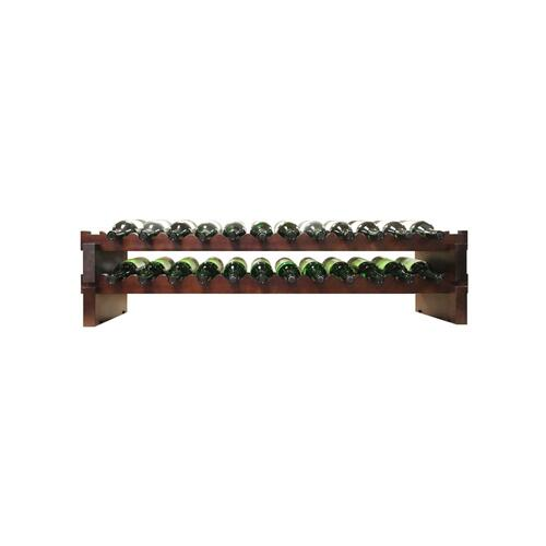 2 x 12 Bottle Modular Wine Rack (Stained)
