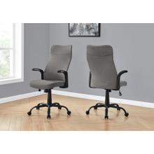 See Details - OFFICE CHAIR - BLACK / DARK GREY FABRIC / MULTI POSITION