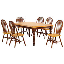 See Details - Extendable Dining Set w/Arrowback Chairs (7 Piece)