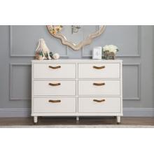 Warm White Tanner 6-Drawer Assembled Dresser