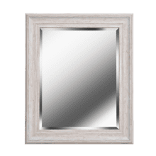 Warren - Beveled Mirror w/Distressed White Wood Finish Frame