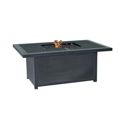 """Castelle - 52"""" Altra Rectangular Firepit Coffee Table"""