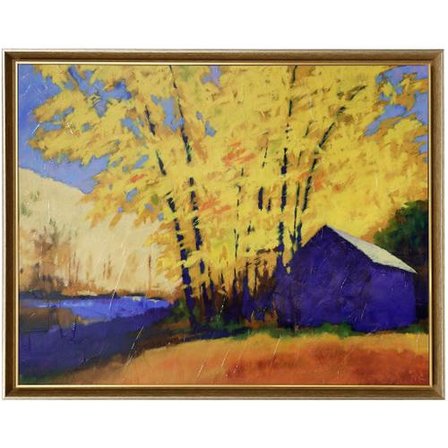 Style Craft - HARTMANS PLACE  39in w X 31in ht  Textured Framed Print  Made in USA
