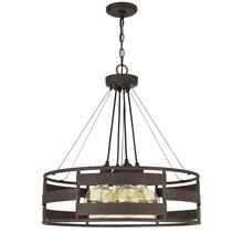 60W x 4 Rochefort metal chandelier (Edison bulbs shown ARE included)