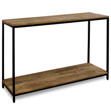 CHATTERCUT SOLID MANGO  24ht X 47w X 18d  Console Table with Lower Shelf in a Medium Natural Finis
