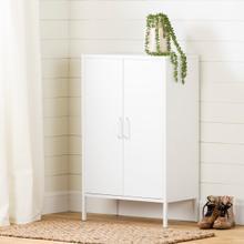 Crea - Metal 2-Door Accent Cabinet, Pure White