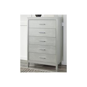 Five Drawer Chest - Silver Gray