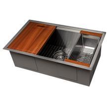 """See Details - ZLINE 30"""" Garmisch Undermount Single Bowl Kitchen Sink with Bottom Grid and Accessories (SLS) [Color: Stainless Steel]"""