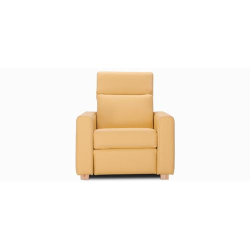 Seattle Accent chair / Motion with half arm (044; Wood legs - Beech B9)