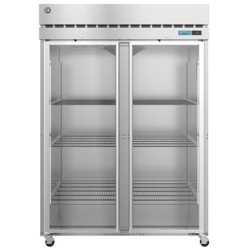 F2A-FG, Freezer, Two Section Upright, Full Glass Doors with Lock