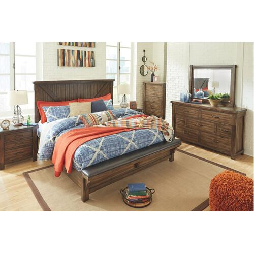 Lakeleigh California King Panel Bed With Upholstered Bench