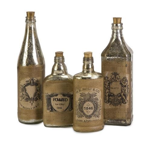 Imax Corporation - Vintage Bottles w/ Labels - Set of 4