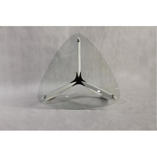 Modrest Medina Contemporary Glass & White Coffee Table