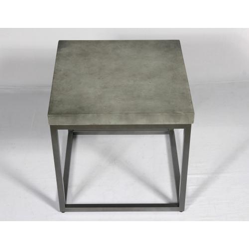 Onyx Square End Table, Aged Concrete