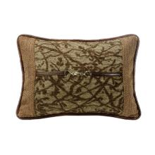 Highland Lodge Tree Lumbar Pillow W/ Buckle Detail, 14x20