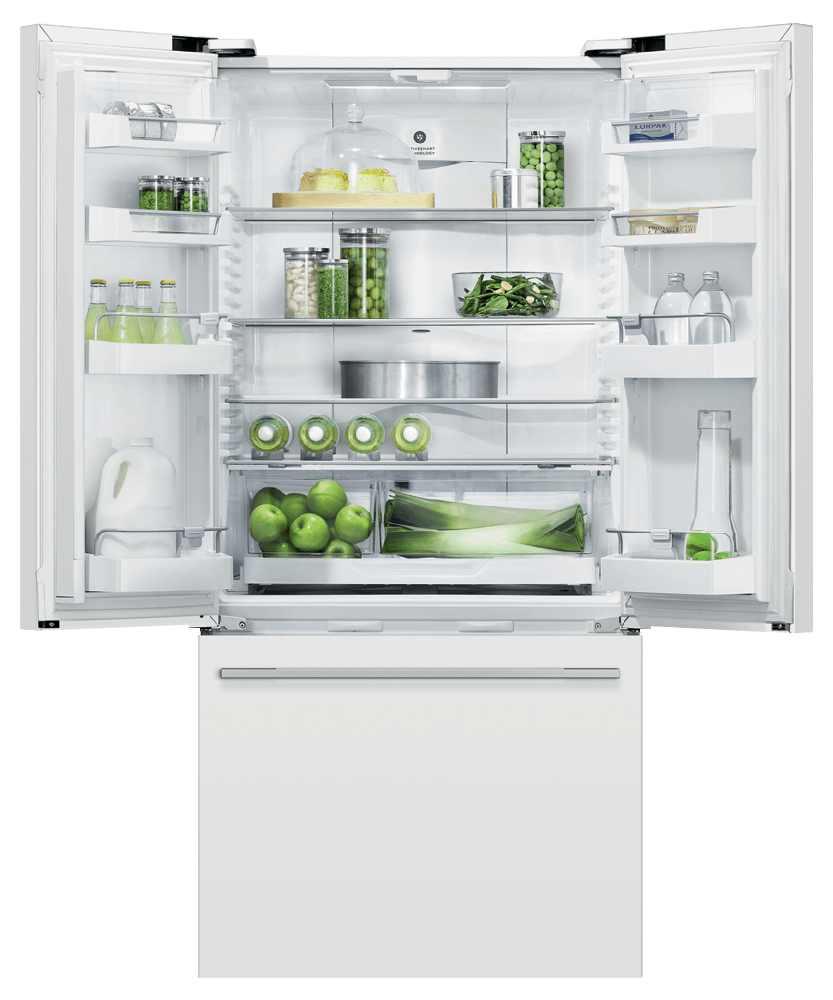 """Fisher & PaykelFreestanding French Door Refrigerator Freezer, 32"""", 17 Cu Ft"""