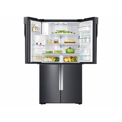 23 cu. ft. Counter Depth 4-Door Flex™ Refrigerator with FlexZone™ in Black Stainless Steel