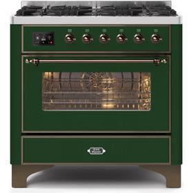 36 Inch Emerald Green Dual Fuel Liquid Propane Freestanding Range