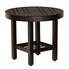 Tri-Slat Complete Tables Round End Table