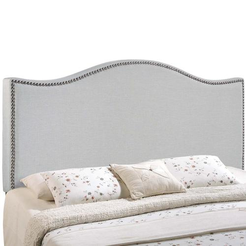 Modway - Curl King Nailhead Upholstered Headboard in Sky Gray