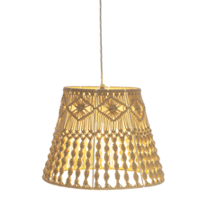 See Details - Macrame Tapered Pendant. 60W Max Watt. Hardwire Only.