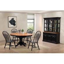 DLU-TBX4866-4130-22BHAB7PC  7 Piece Pedestal Dining Set with China Cabinet