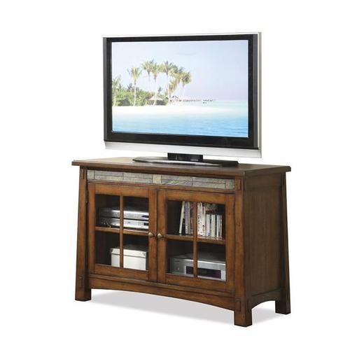 Riverside - Craftsman Home 45-Inch TV Console Americana Oak finish