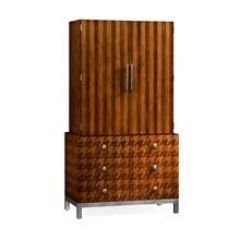 Houndstooth drinks cabinet