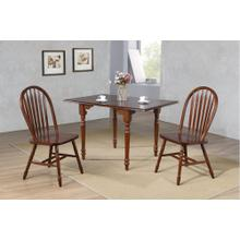 Drop Leaf Dining Set w/Arrowback Chairs - Chestnut