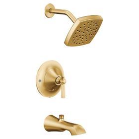 Flara brushed gold posi-temp® tub/shower