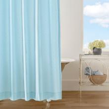 Diamond Lattice Shower Curtain, LAKE, ONE