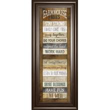 """Farmhouse Rules"" Shutter By Marla Rae Framed Print Wall Art"