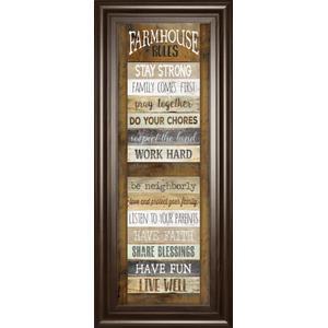 """Farmhouse Rules"" Shutter By Marla Rae Framed Print Wall Art"